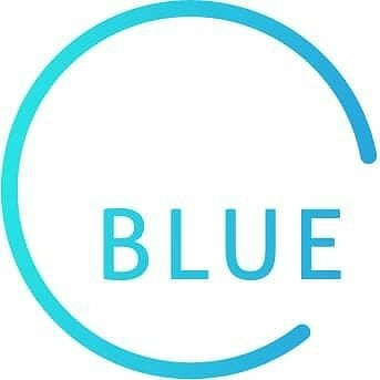 Blue yoga logo